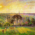 Camille Pissarro - Landscape. Church and Farm in Eragny. 1895