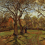 Camille Pissarro - Chestnut Trees, Louveciennes, Spring. (1870)