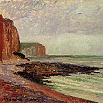 Camille Pissarro - Cliffs at Petit Dalles. (1883)