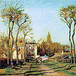Camille Pissarro - Entry into the village of Voisins