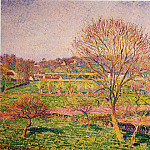 Camille Pissarro - Big Walnut Tree at Eragny. (1892)