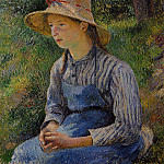 Camille Pissarro - Young Peasant Girl Wearing a Hat. (1881)
