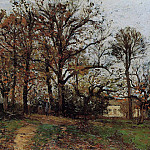 Camille Pissarro - Trees on a Hill, Autumn, Landscape in Louveciennes. (1872)