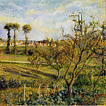 Camille Pissarro - Sunset at Valhermeil, near Pontoise. (1880)