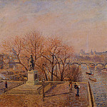 Camille Pissarro - Ponty-Neuf, the Statue of Henri IV, Sunny Weather, Morning. (1900)