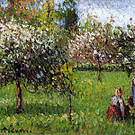 Camille Pissarro - Apple Blossoms, Eragny. (1900)