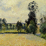 Camille Pissarro - Field of Oats in Eragny. (1885)