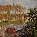 Camille Pissarro - Setting Sun at Moret. (1901)