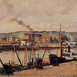 Camille Pissarro - Morning, Rouen, the Quays. (1896)