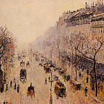 Camille Pissarro - Boulevard Montmartre - Morning, Sunlight and Mist. (1897)