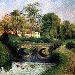 Camille Pissarro - Little Bridge on the Voisne, Osny. (1883)
