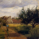 Camille Pissarro - Entering a Village. (1863)