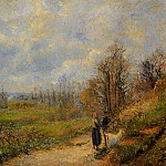 Camille Pissarro - The Pathway at Le Chou, Pontoise. (1878)