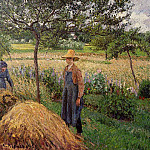 Camille Pissarro - Grey Weather, Morning with Figures, Egagny. (1899)