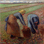 Camille Pissarro - Potato Harvest. (1885)