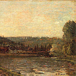 Camille Pissarro - The Banks of the Seine at Bougival. (1871)