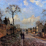 Camille Pissarro - A Road in Louveciennes. (1872)
