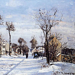 Camille Pissarro - Street in the Snow, Louveciennes. (1872)