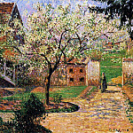 Camille Pissarro - Flowering Plum Tree, Eragny. (1894)