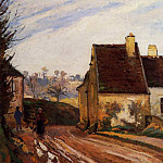 Camille Pissarro - Homes near the Osny. (1872)