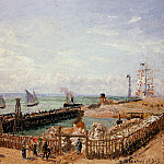 Camille Pissarro - The Jetty, Le Havre - High Tide, Morning Sun. (1903)