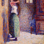 Camille Pissarro - Young Peasant at Her Toilette. (1888)