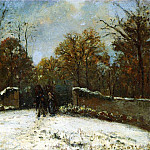 Camille Pissarro - Entering the Forest of Marly (Snow Effect). 1869