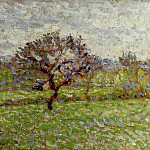 Camille Pissarro - An Apple Tree at Eragny. (1887)