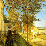 Camille Pissarro - Pissarro Louveciennes- The Road to Versailles, 1870, Foundat