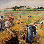 Camille Pissarro - The Harvest. (1882)