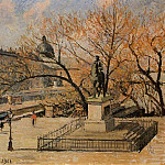 Camille Pissarro - The Pont-Neuf, Statue of Henri IV, Morning, Sun. (1901)