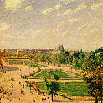 Camille Pissarro - The Tuilleries Gardens - Morning, Spring, Sun. (1899)