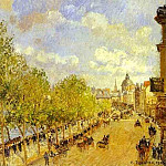 Camille Pissarro - Quai Malaquais in the Afternoon, Sunshine. (1903)