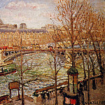 Camille Pissarro - The Pont du Carrousel, Afternoon. (1903)