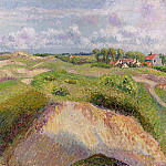 Camille Pissarro - The Dunes at Knocke, Belgium. (1894)