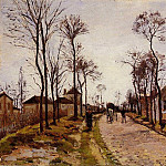 Camille Pissarro - The Road to Caint-Cyr at Louveciennes. (1870)
