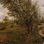 Camille Pissarro - Pontoise Landscape, Through the Fields. (1879)