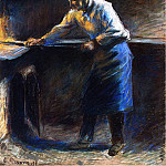 Camille Pissarro - Eugene Murer at His Pastry Oven. (1877)