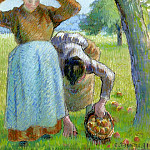 Camille Pissarro - Apple Gatherers. (1891)