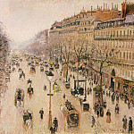 Camille Pissarro - Pissarro Le Boulevard Montmartre. Morning, grey weather, 189