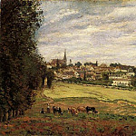 Camille Pissarro - View of Marly-le-Roi. (1870)