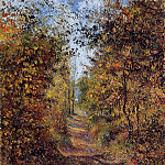 Camille Pissarro - A Path in the Woods, Pontoise. (1879)