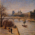 Camille Pissarro - The Louvre 2. (1901)