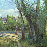 Camille Pissarro - Pissarro Sunlight on the Road- Pontoise, 1874, oil on canvas