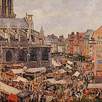 Camille Pissarro - The Market by the Church of Saint-Jacques, Dieppe. (1901)