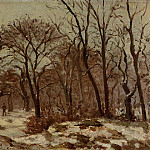 Camille Pissarro - Chestnut Orchard in Winter. (1872)