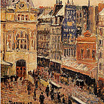 Camille Pissarro - View of Paris, Rue dAmsterdam. (1897)