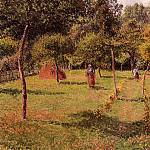 Camille Pissarro - Enclosed Field at Eragny. (1896)