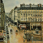 Camille Pissarro - Rue Saint-Honore - Afternoon, Rain Effect. (1897)
