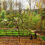 Camille Pissarro - Spring, Gray Weather, Eragny. (1895)